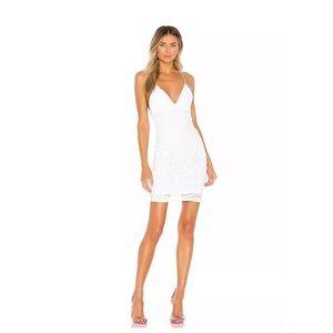Nookie Sensational Sequin Mini Dress in White NWT